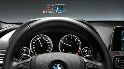 BMWs bekommen vollfarbige Head up Displays