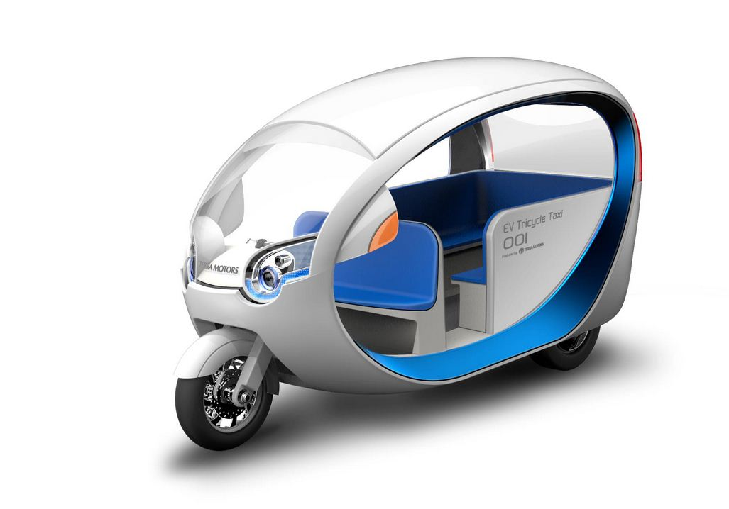 futuristisches tuktuk taxi mit elektroantrieb. Black Bedroom Furniture Sets. Home Design Ideas