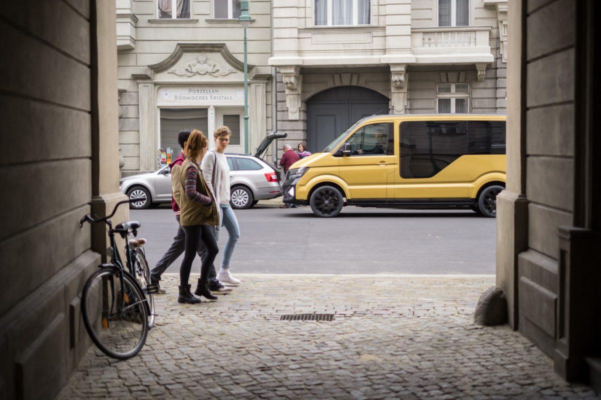 Das MOIA Fahrzeug ist ein sechsitziger elektrischer Minibus mit modernen Features. Foto: MOIA