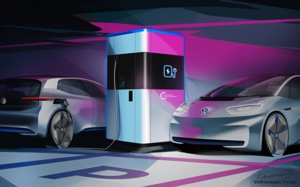 Volkswagen shows fast charging station that works much like a power bank. (Photo: obs / Volkswagen Group component) &quot;width =&quot; 620 &quot;height =&quot; 386 &quot;/&gt;<p class=
